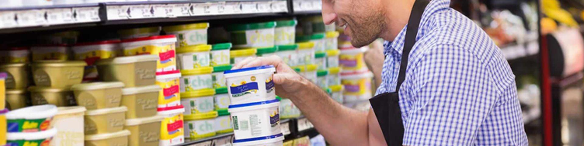 Merchandising y venta en las secciones de productos frescos en supermercados